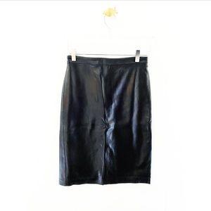 bcbgmaxazria / vintage lamb leather pencil skirt